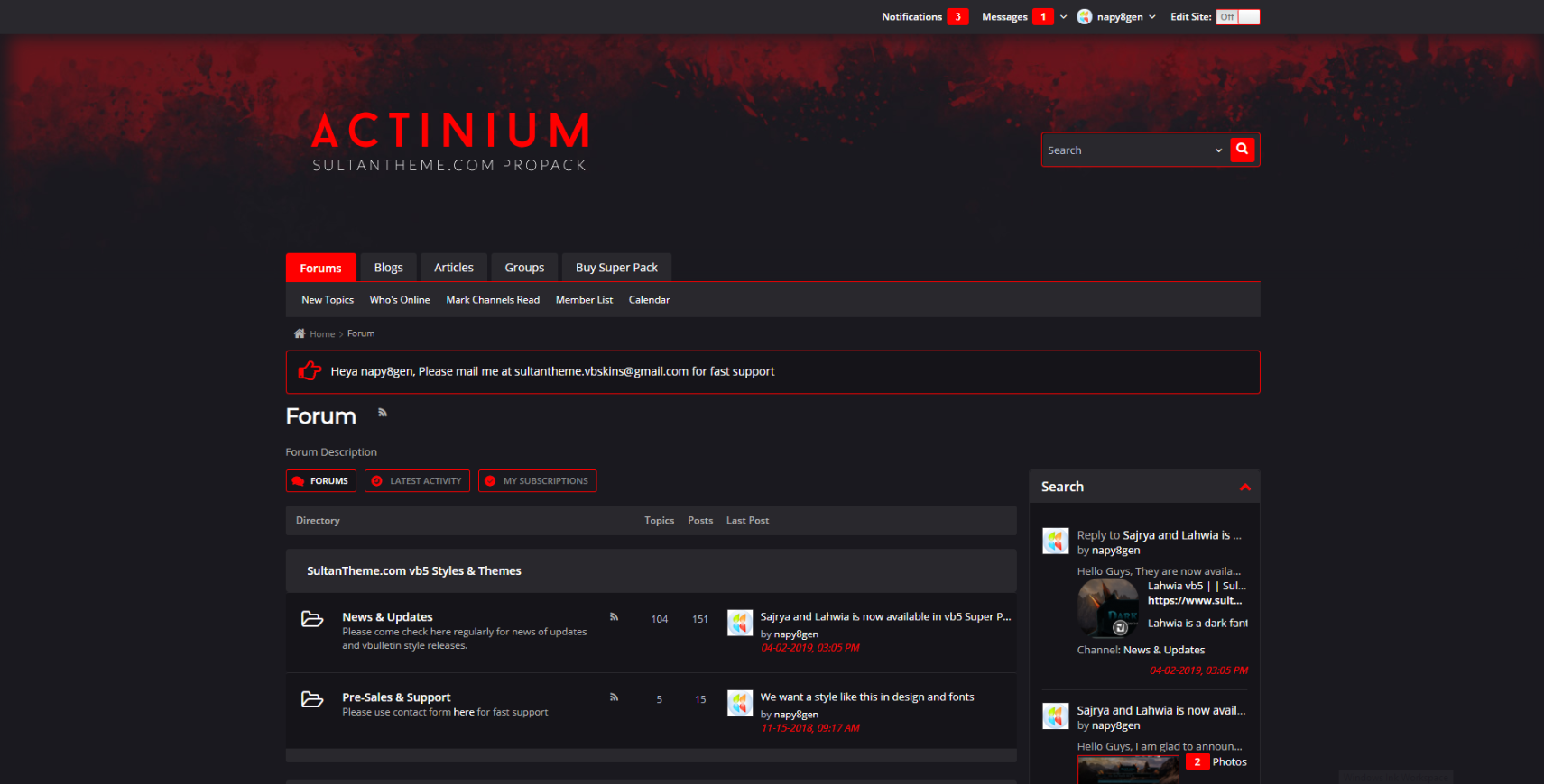 ActiniumZombie - Pro Pack Dark Actinium Zombie Red - Released