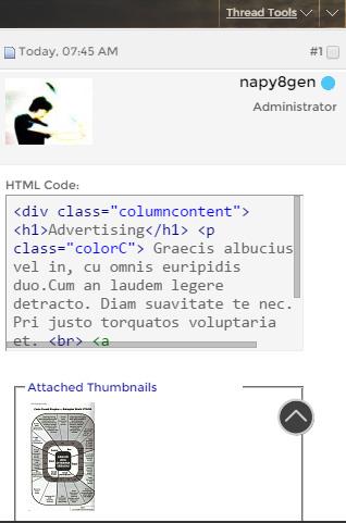 html and thumbnail