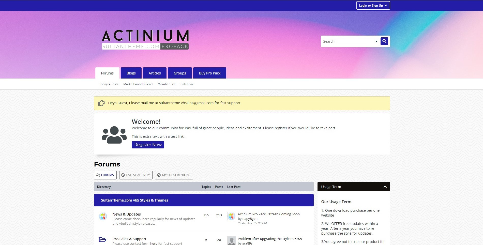 actinium1 - Pro Pack Themes Updated - Actinium Design Refreshed!