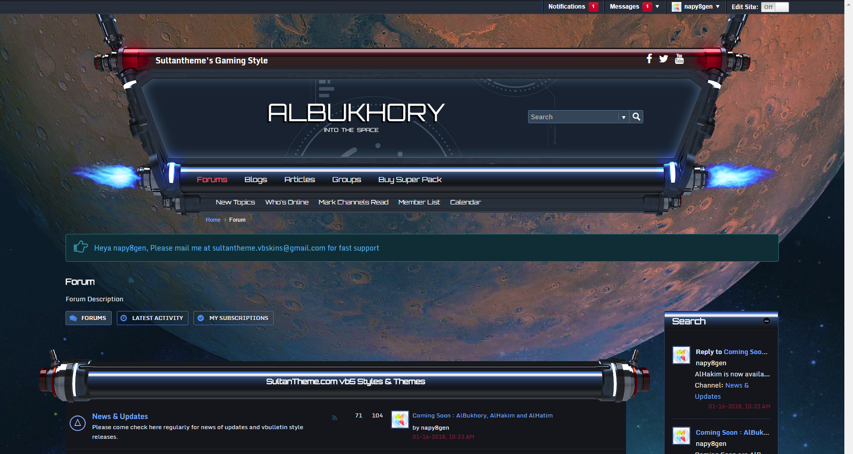bukhory - 3 new vb5 themes released: alBukhory, alHakim and alHatim
