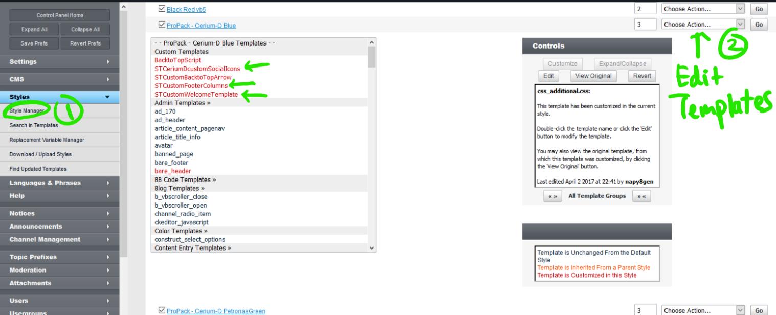 cd custom templates - Ixerius vb5