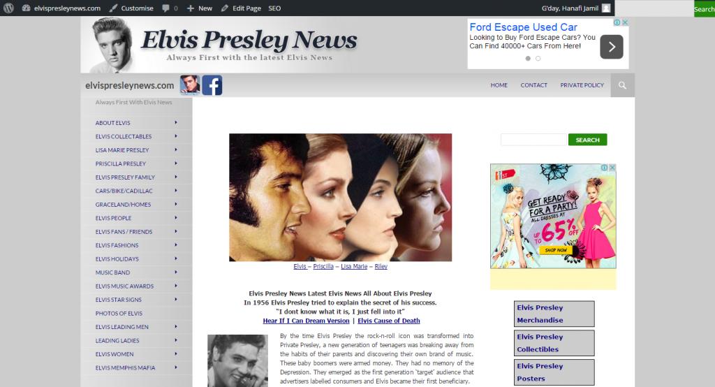 elvispresleynews 1024x554 - FrontPage to Wordpress conversion service