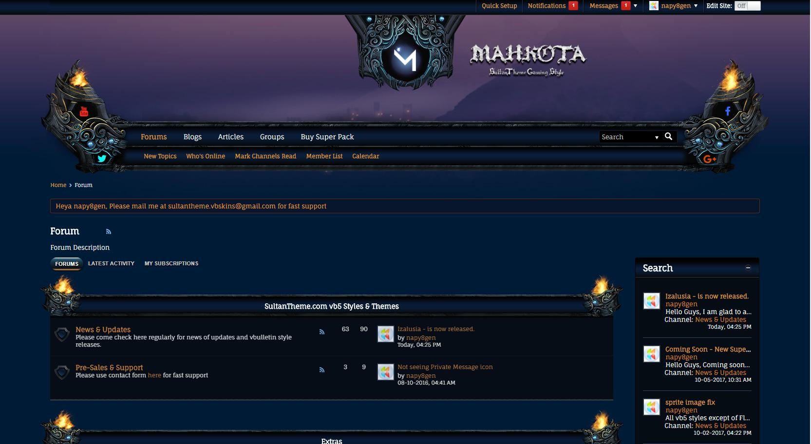 mahkota - Mahkota has been updated