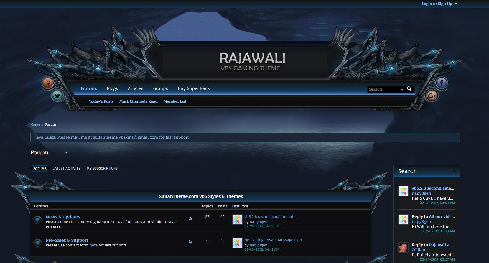 rajawali - Rajawali important update