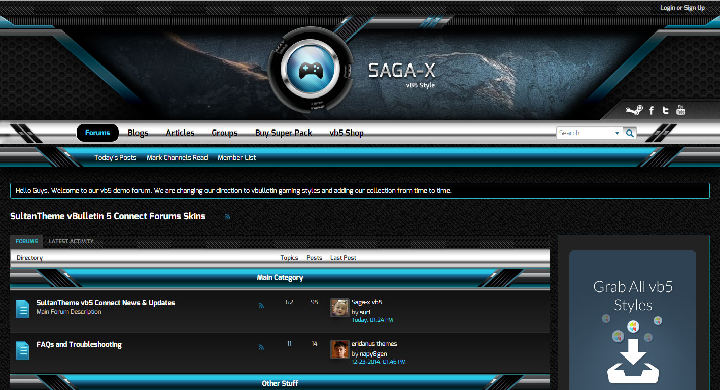 sagascreen4 - Saga-X and Saga-X Blue released