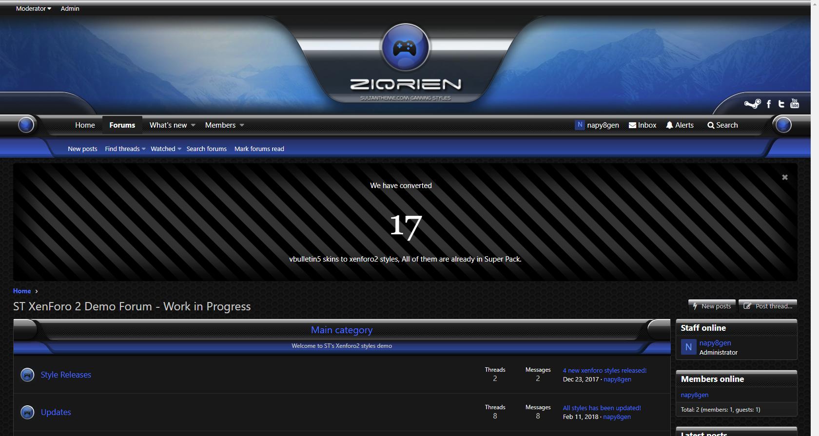 ziqrien 4 - 7 new xenforo2 styles released!