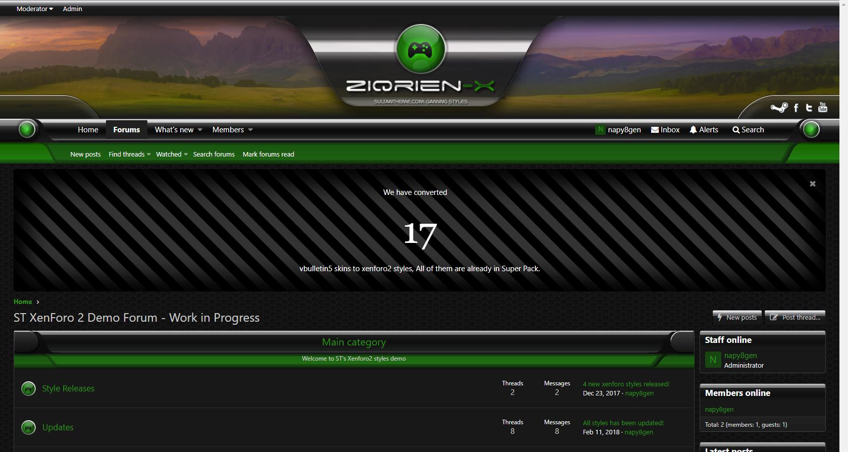 ziqrien g 2 - 7 new xenforo2 styles released!