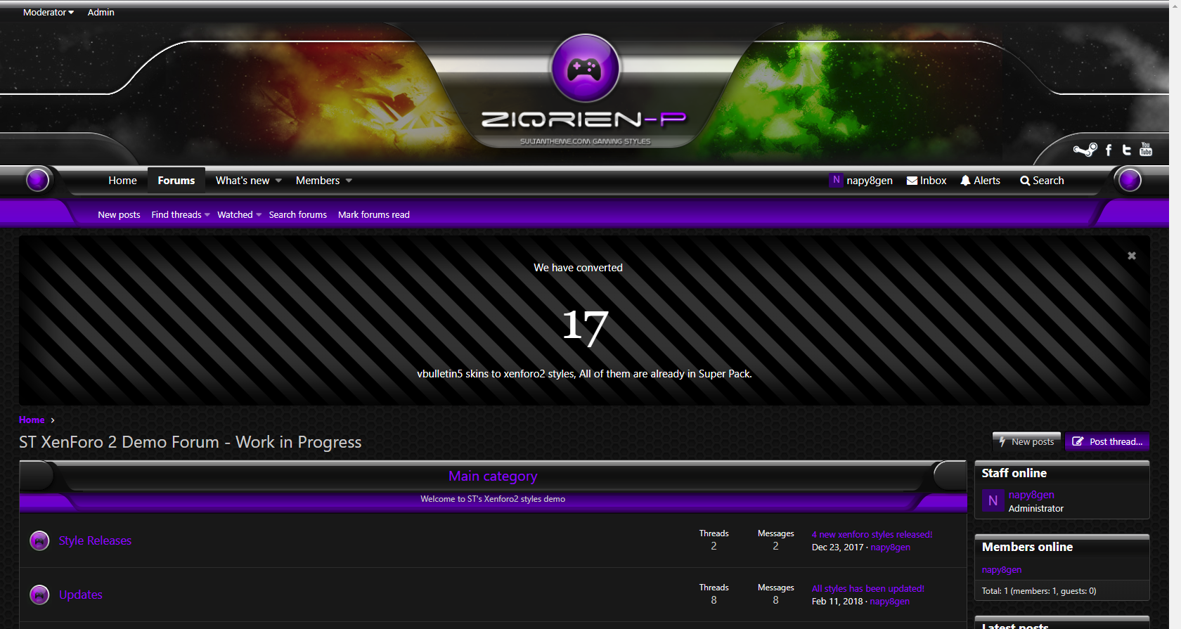 ziqrien p 2 - 7 new xenforo2 styles released!